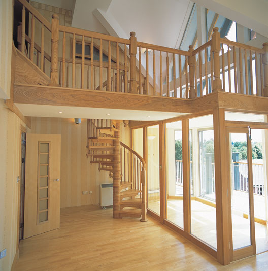 Wooden Staircases: British Spirals & Castings
