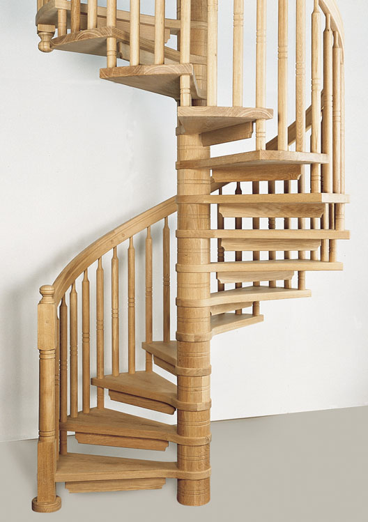 Wooden spiral staircases british spirals castings for Spiral staircase blueprints