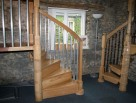Burke Style Spiral Stair with Metal Balusters