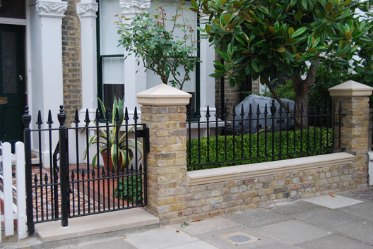 Wall top railings british spirals castings for Victorian garden walls designs