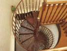 Victorian Spiral Stair with Victorian Balusters