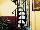 Traditional Spiral Staircase with one baluster per tread