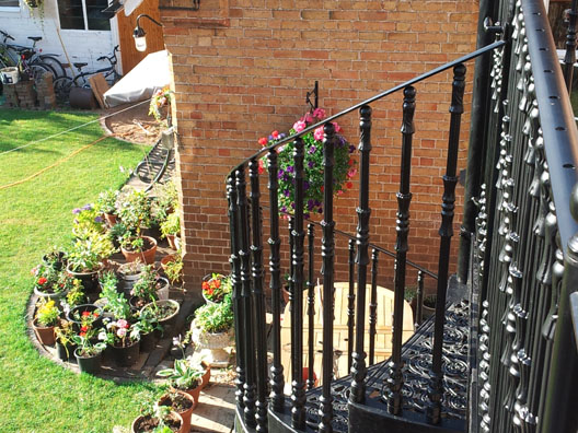 Victorian balconies british spirals castings for Victorian spiral staircase