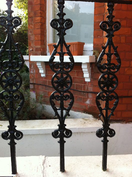 Cast iron victorian railings british spirals and castings