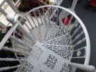 The Victorian Spiral Stair tread patterns allows light to pass through