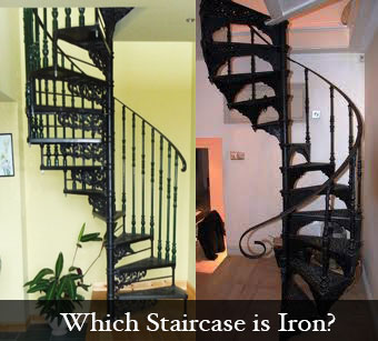 Iron Spiral Stairs or Aluminium Spiral Stairs