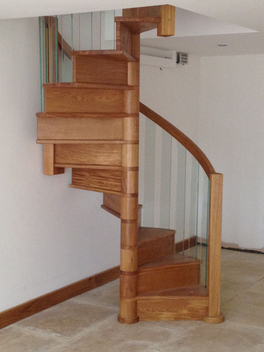 Spiral Staircases With Glass Balustrade