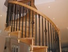 Stunning Spiral Stair with Twist and Caged Balusters