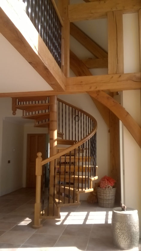 Bespoke Wooden Spiral Staircases British Spirals Amp Castings