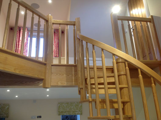 Sapele Spiral Staircase. SPW 2 5