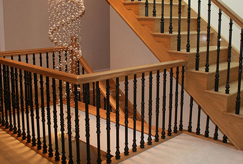Straight Wooden Staircases