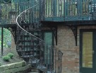 Victorian Spiral Stair with Regent Ornate Infill Panel