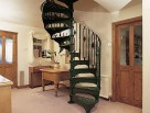 Victorian Spiral Stair with Floral Infill Panel