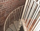 Victorian Spiral Staircase with Square Balusters and Plain Infill Panels