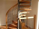 Any hard woods can be used in the creation of our spiral staircases