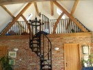 Victorian Spiral Staircase with matching landing balustrade