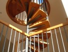 Spiral Staircase with Wooden Treads