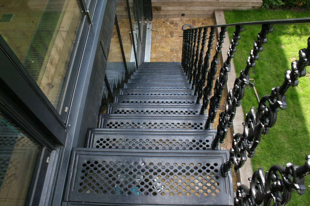 metal exterior staircase
