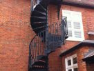 Double Flight Victorian Spiral with Floral Infill Balusters