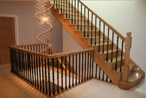 helical wood staircase