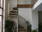 Spiral Staircase with Continuous solid timber handrails