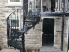 Victorian Spiral Staircase with Matching Balcony and Railings