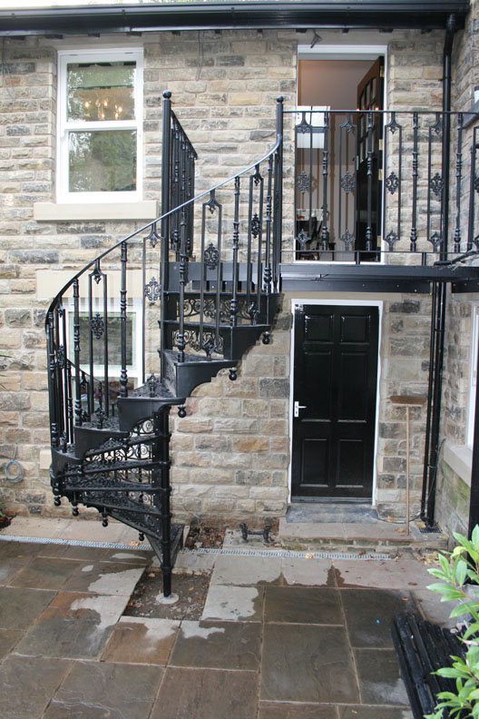 Traditional victorian cast spiral staircases british - Spiral staircase exterior aluminum ...