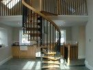 A mixture of wood and metal create these stunning Spiral Staircases