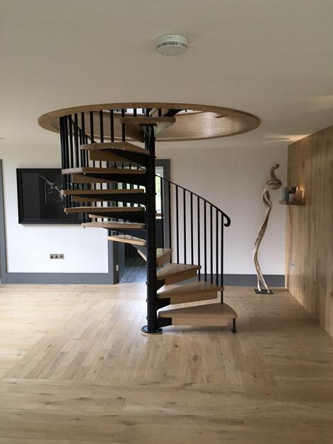 Large Scandinavian Spiral Staircase