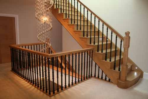 helical stairs in oak