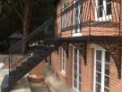 External Victorian spiral staircase