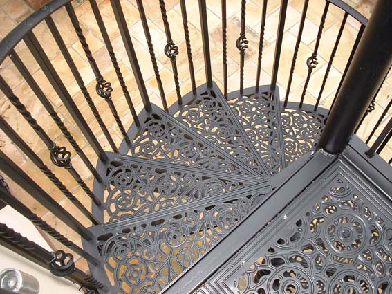victorian metal spiral staircase