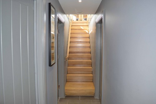 Wooden Straight Staircase