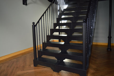Stunning Double Width Straight Staircase