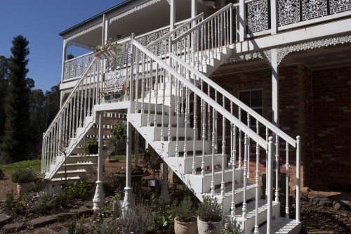 Victorian Straight External Staircase