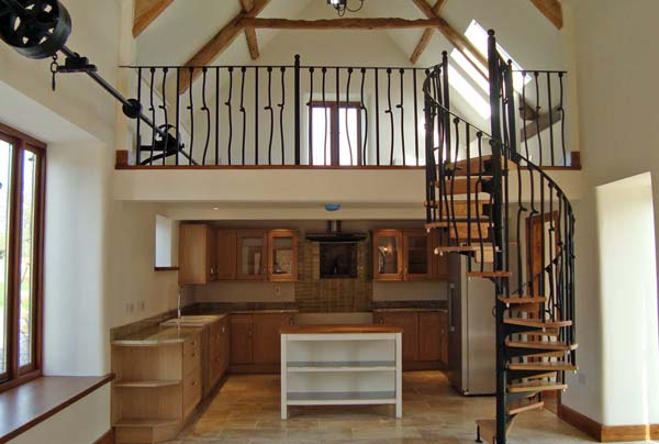 handmade spiral staircase