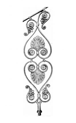 BSC1071 Ornamental Railing Panel