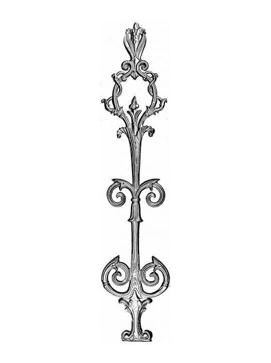 BSC1117 Ornamental Railing Panel