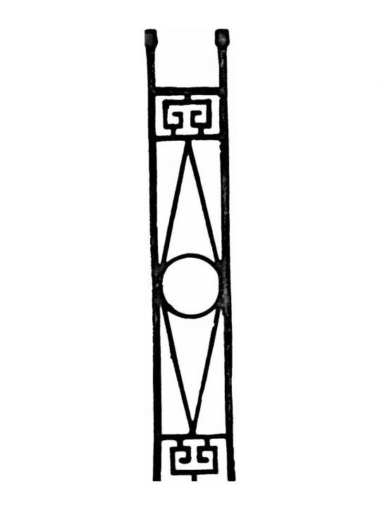 BSC1152 Ornamental Railing Panel