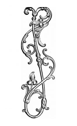 BSC1159 Ornamental Railing Panel