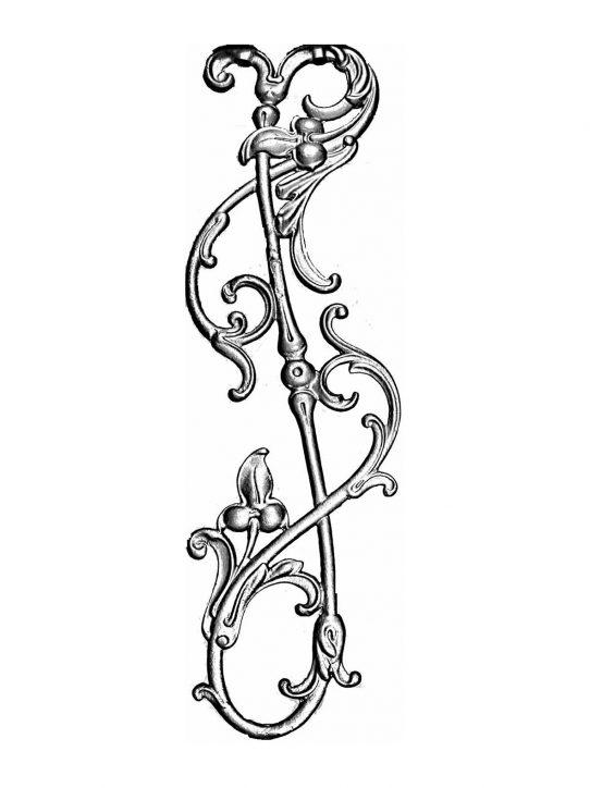 BSC1159 Ornamental Railing Panel