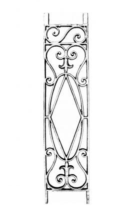 BSC1169 Ornamental Railing Panel