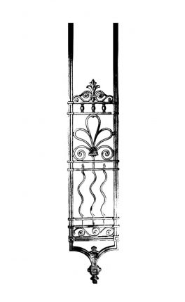 BSC1178 Ornamental Railing Panel