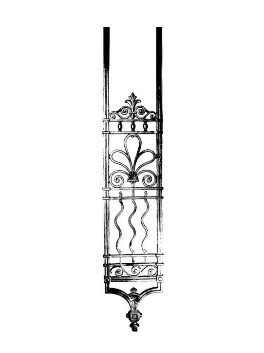 BSC1178 Ornamental Railing Panel