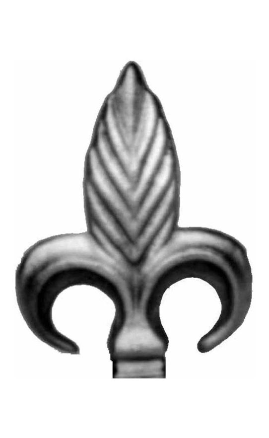 BSC6071 Railing Head Fleur De Lis