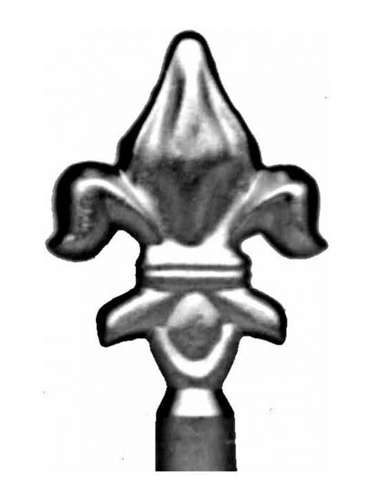 BSC6083 Railing Head Fleur De Lis