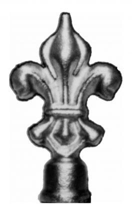 BSC6088 Railing Head Fleur De Lis