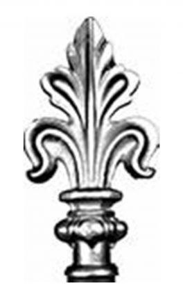 BSC6092 Railing Head Fleur De Lis