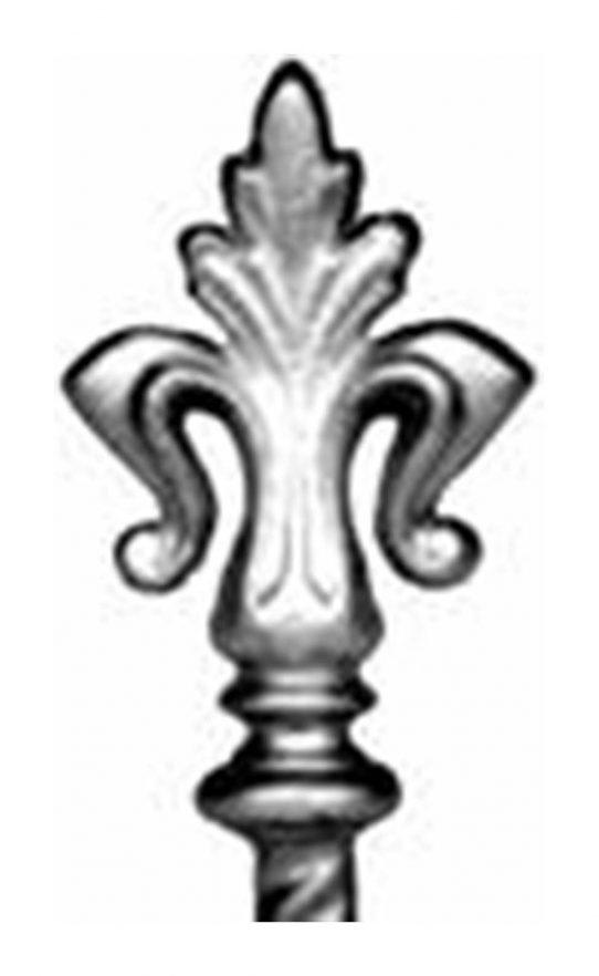 BSC6096 Railing Head Fleur De Lis