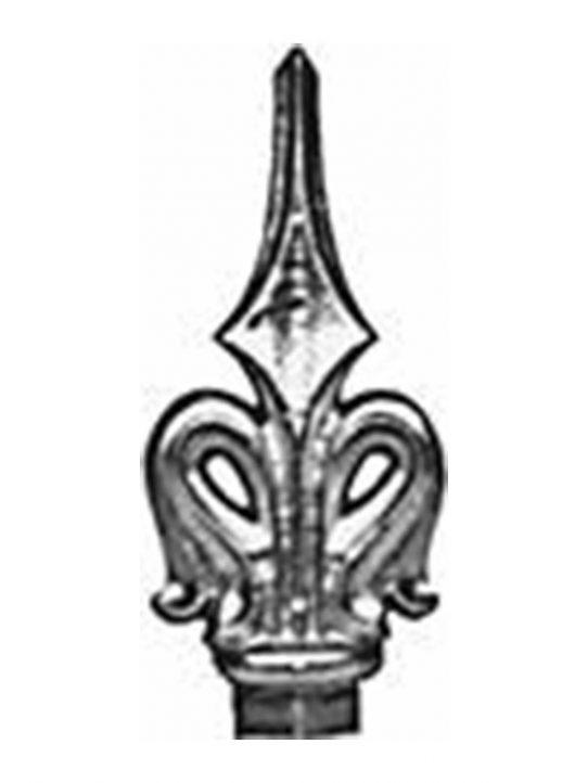 BSC6101 Railing Head Fleur De Lis